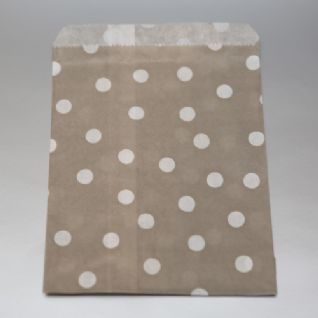 White dots Grey Party bitty bags Set of 25/ Άσπρο πουά Γκρί χαρτινα σακουλακια Σετ των 25 (3)